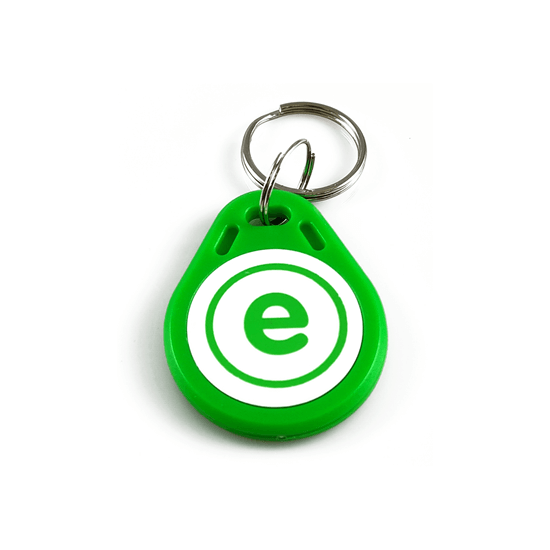 RFID tag / klíčenka zelenobílá