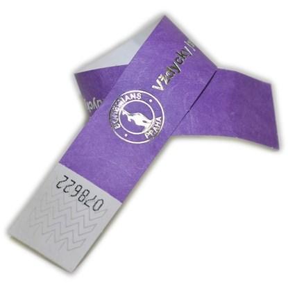Obrázek ID náramek Tyvek® 25 mm s metalickou ražbou