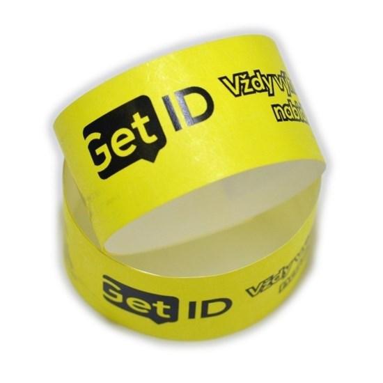 Obrázek z ID náramek Tyvek® 25 mm s potiskem