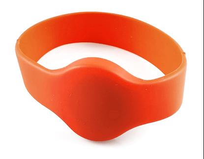 RFID Silikonový náramek kulatý bez potisku